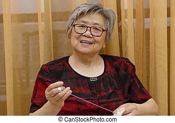 sewing grandma