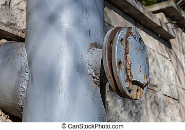 Flange on the old pipeline - Flange with the stub of the old...