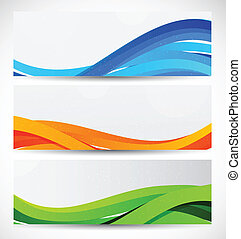Set of wavy banners. Abstract illustration