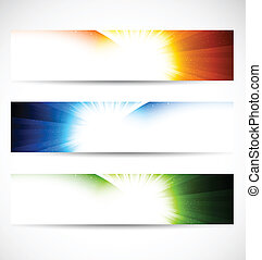 Set of shiny banners Abstract illustration