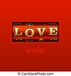 Love Wins! - Slot machine vector illustration