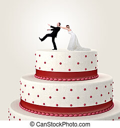 wedding funny cake - 3d wedding cake and funny couple...