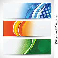 Set of bright banners. Abstract illustration