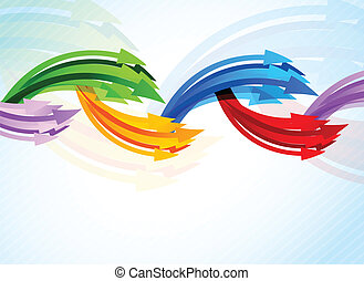 Background with colorful arrow. Abstract illustration