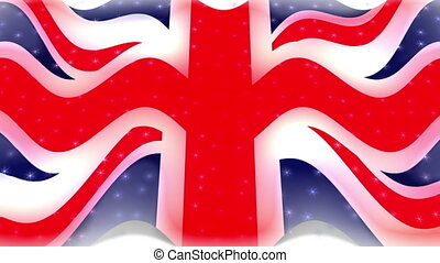 Flag - union jack - Animation on emblems - Flag - union jack