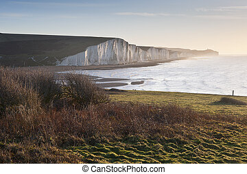 Seven Sisters sunrsie viewed from Seaford Head - View from...
