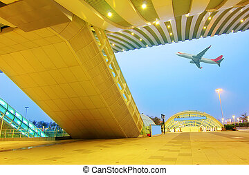 airport - modern international airport terminal in china