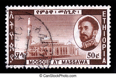 mosque at massawa , Ethiopia - ETHIOPIA - CIRCA 1968 : A...