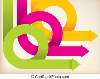 Abstract color arrows on background