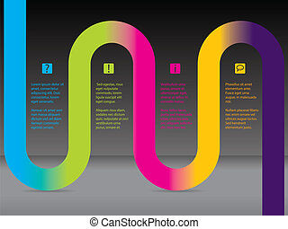 Infographic with rainbow ribbon - Infographic design with...