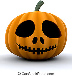 Pumpkin - 3D render of a pumpkin
