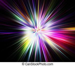 arco íris, explosão