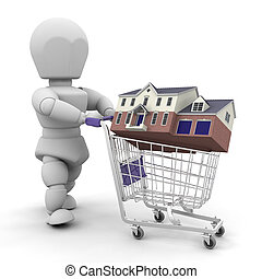 Buying a house - Someone buying a house