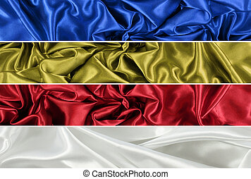 Silk backgrounds - Backgrounds of crumpled silk