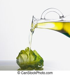 Pouring Olive Oil