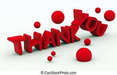 Thank you text on white background - text on white...