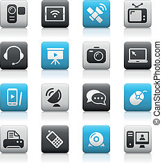 Communication Icons // Matte Series - Vector icons for your...