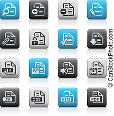 Documents Icons - 1 Matte Series - Vector icons for your web...