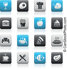 Food Icons - 1 Matte Series - Vector icons for your web or...