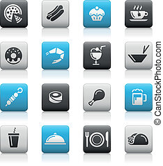 Food Icons - 2 Matte Series - Vector icons for your web or...