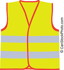 Safety vest vector illustration
