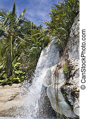 Mountain waterfall in Malaysia.