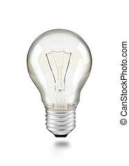light bulb on white
