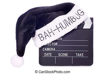 Hate christmas movies cutout - Bah humbug santas hat on...