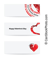 Valentine's Day vector banner with special design