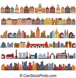 Variants of houses - Various variants of houses on the white