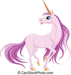 unicorn - Beautiful unicorn with pink mane and tail