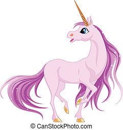 unicorn - Beautiful unicorn with pink mane and tail