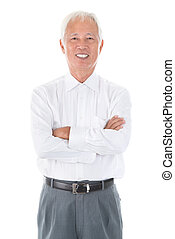 Senior adult Asian Chinese businessman - Confident arms...