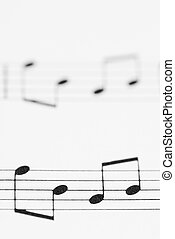 Macro Sheet Music Notes. - Macro photo of sheet music.