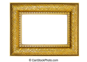 Golden Picture Frame with Ornaments