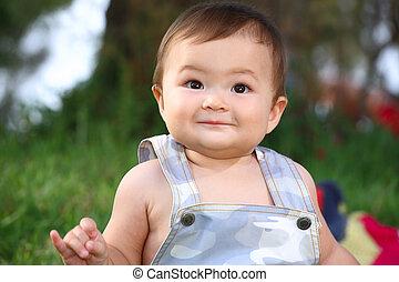 Close-Up Portrait Of Adorable Baby - close-up portrait of...