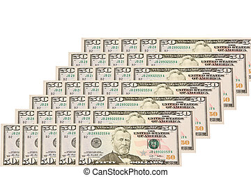 $ 50 bill isolated on a white background