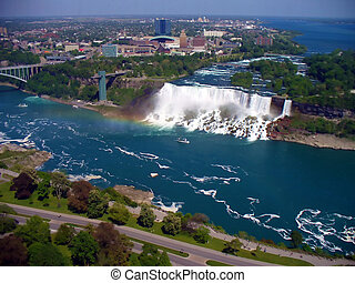 Niagara Falls - View of the american side of the niagara...