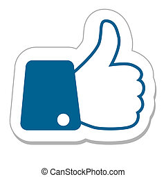 Like button with finger up