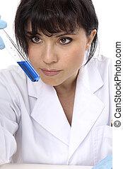 pröva, vetenskap, rör, laboratorium