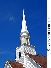 church steeple - church steeple photographed in rural...