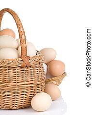 籃子, 蛋, 白色, 被隔离