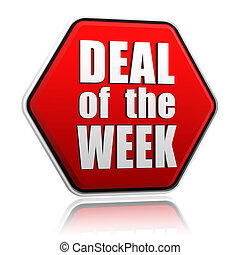 deal of the week in red hexagon - deal of the week - text in...