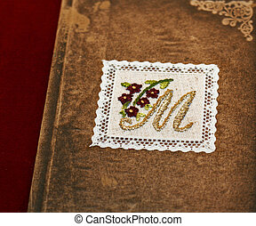 Letter M - Hand made needle work letter M decoration