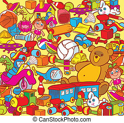 child's play - The illustration shows the big heap of...