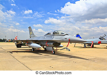 BANGKOK, THAILAND - JULY 02: F-16 of Royal Thai air force...