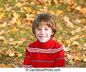 Little Boy in the Fall