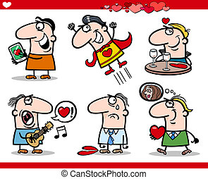 valentines day themes cartoon illustration
