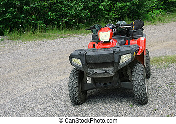 ATV All Terrain Vehicle - ATV (All Terrain Vehicle) on path...
