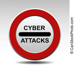 Cyber attacks vector sign
